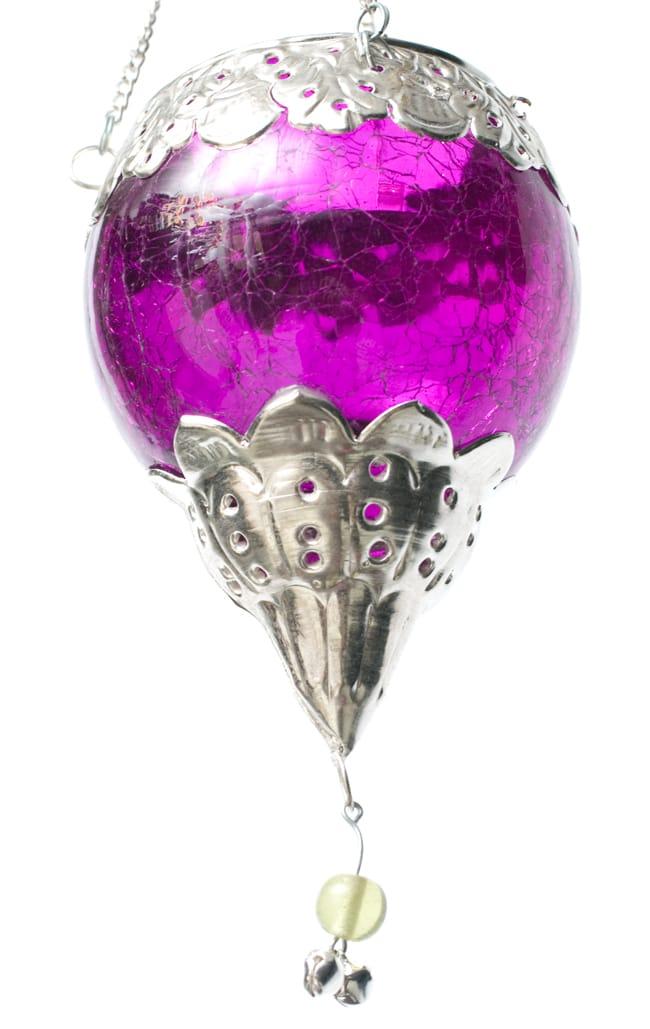 逆ドーム型ハンギングキャンドルスタンド【小】 - 紫の写真6 -