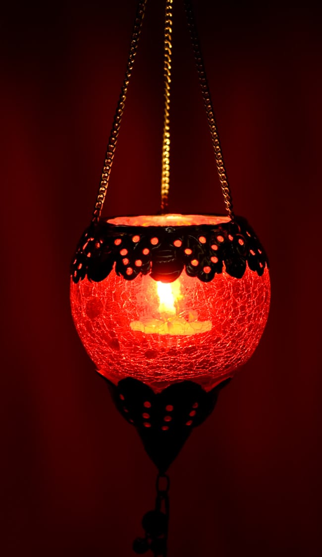 Tirakita rakuten global market inverted dome shaped hanging inverted dome shaped hanging candle stand red ethnic india asian grocery lamps arabian lamp asian lamp shade mozeypictures Image collections