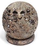 大輪の花 - ソープストーン丸形