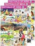 インドの教育ステッカー3枚セット 【インドのお祭り】