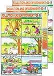 インドの教育ステッカー3枚セット 【環境汚染への啓発】