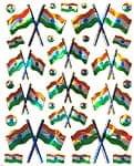 インド国旗のステッカー