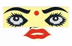 インド女性の顔のステッカー