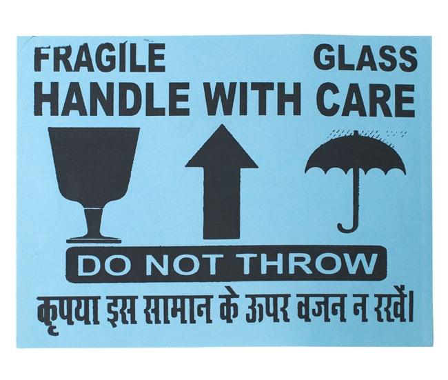 インドの壊れ物ステッカー - 水色(5枚セット)の写真2 - 全体写真です。