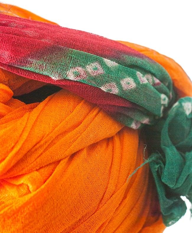 インド人になれる!ラジャスタンの本格ターバン 5 - 別の箇所をみてみました。