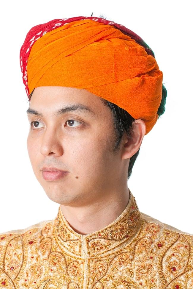 インド人になれる!ラジャスタンの本格ターバン 1