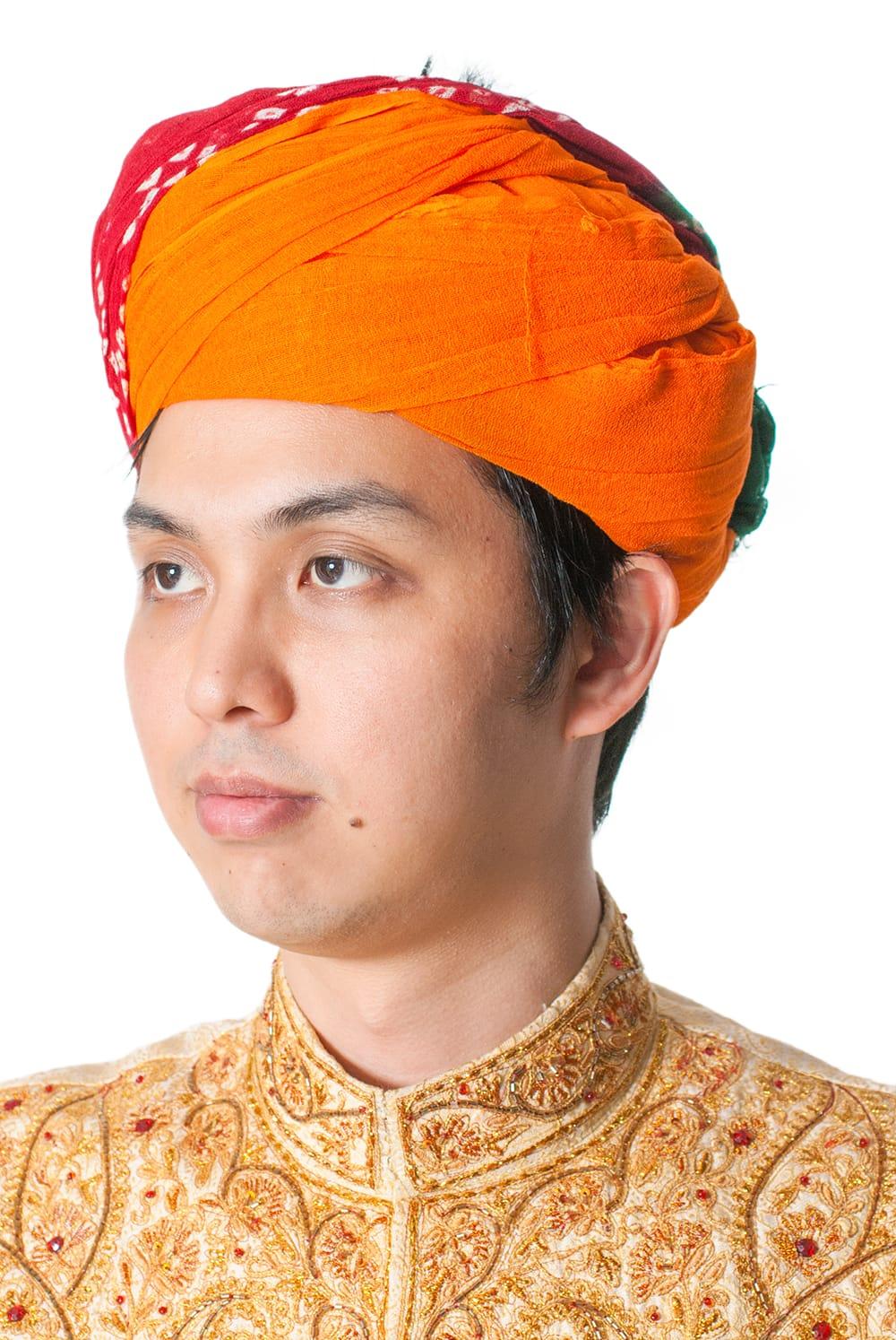 インド人になれる!ラジャスタンの本格ターバンの写真