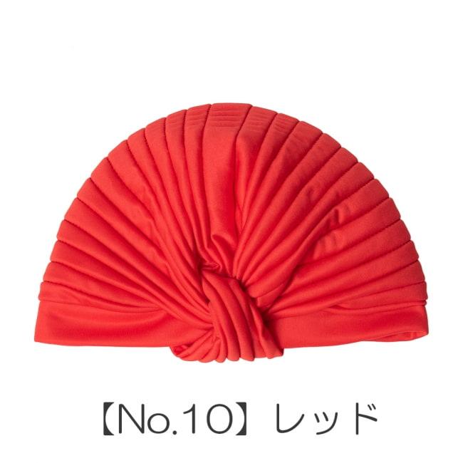被るだけ簡単カラフルストレッチターバン 仮装に便利!インドやアラブなコスプレへ 18 - 【No.10】レッド