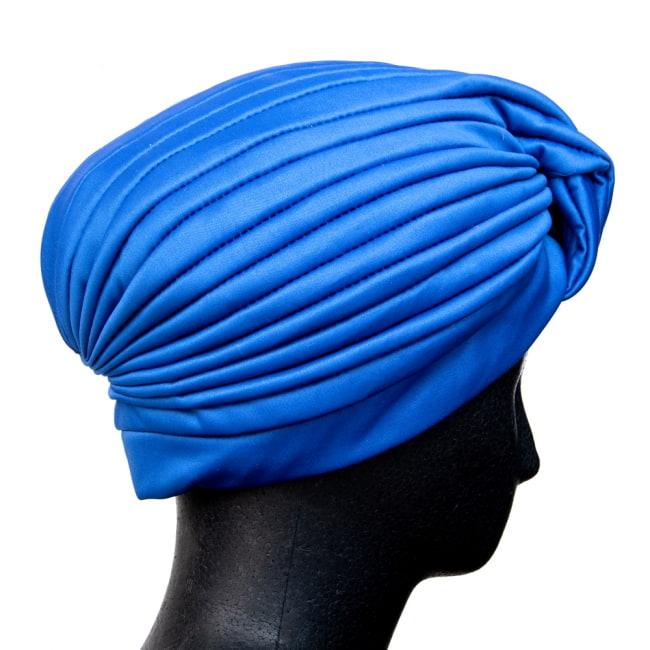 被るだけ簡単カラフルストレッチターバン 仮装に便利!インドやアラブなコスプレへ 4 - 横からの写真です