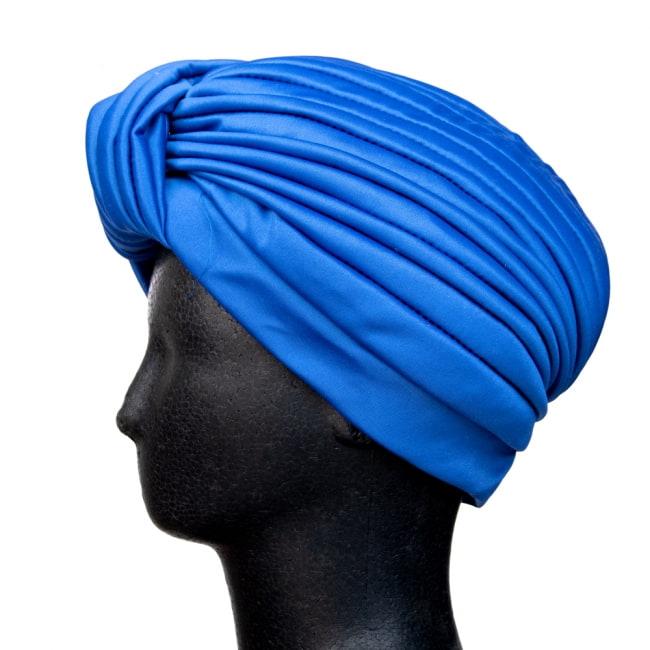 被るだけ簡単カラフルストレッチターバン 仮装に便利!インドやアラブなコスプレへ 6 - 逆サイドからの写真です