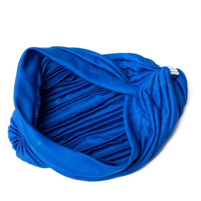 被るだけ簡単カラフルストレッチターバン ラインストーン付き 仮装に便利!インドやアラブなコスプレへ 10 - 裏面はこのようになっています