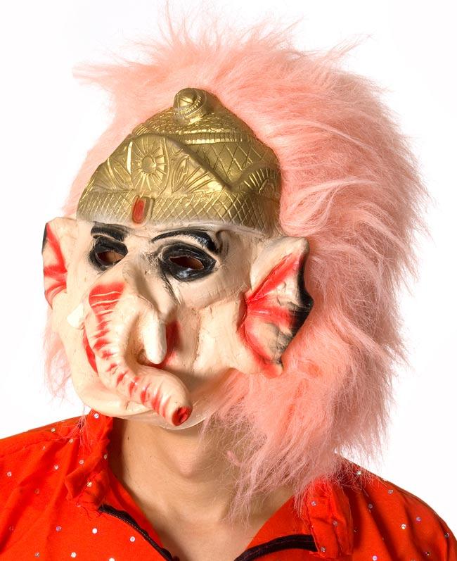 【インド品質】ホラーガネーシャマスク お面 仮装 2 - 顔の拡大です。