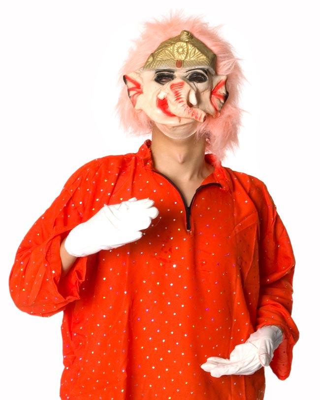 【インド品質】ホラーガネーシャマスク お面 仮装の写真