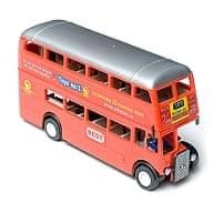 ムンバイ2階建てバス(赤色)