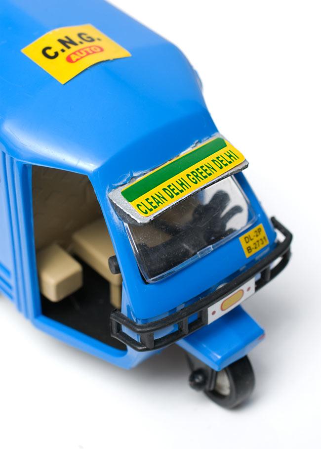 インドの働く車 オート三輪 - 青(Vikram)の写真6 - 角度を変えて見てみました。