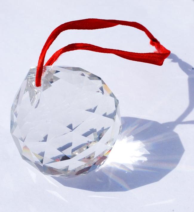太陽の光を集めるクリスタル サンキャッチャー [5cm]の写真4 - 美しいクリスタルガラスです。