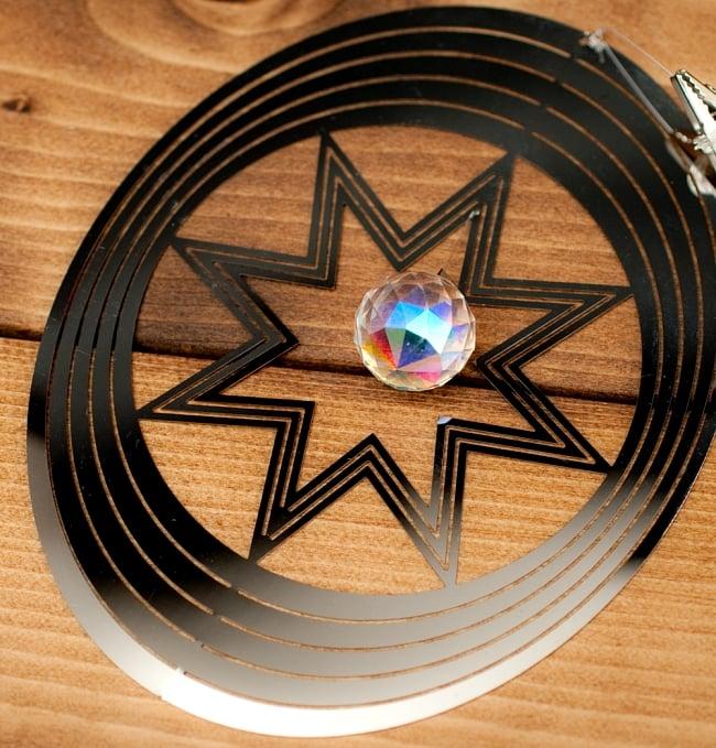 コスモスピナー 太陽で輝き風で動くモビール - オーバルの写真3 - 拡大写真です