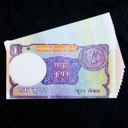【100枚セット】インドのこども銀行【1ルピー札】の写真