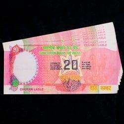 【100枚セット】インドのこども銀行【20ルピー札】の写真