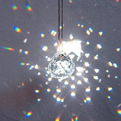 [30mm]太陽の光を集めるクリスタル サンキャッチャー お部屋に小さな虹を運ぶ