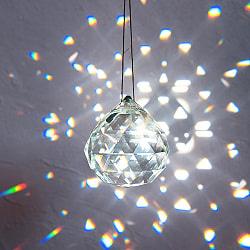 [50mm]太陽の光を集めるクリスタル サンキャッチャー お部屋に小さな虹を運ぶ