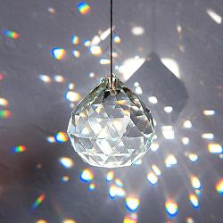 [60mm]太陽の光を集めるクリスタル サンキャッチャー お部屋に小さな虹を運ぶ