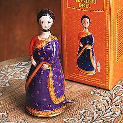 ゼンマイ式 インドのチェンデリサリー人形 インドのレトロなブリキのおもちゃ