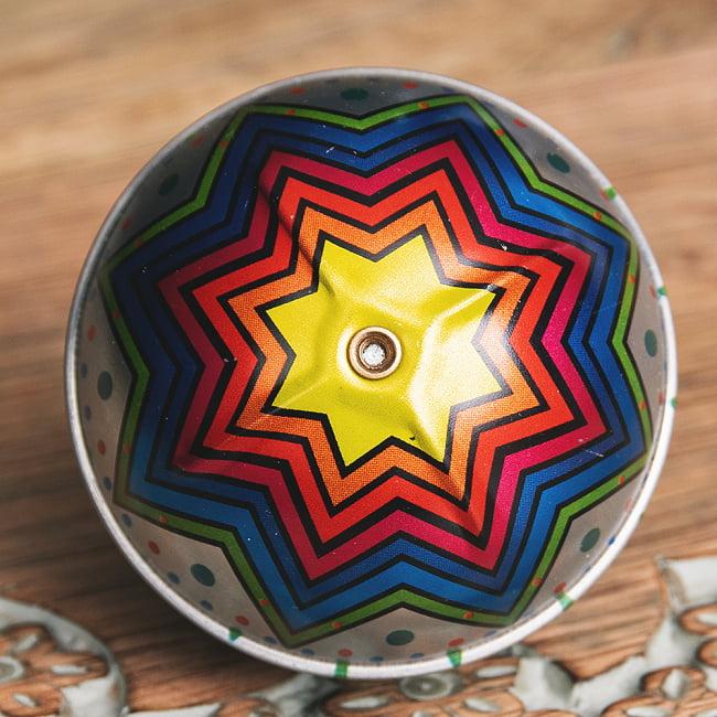 〔アソート〕フリクション式 カラフル気球コマ インドのレトロなブリキのおもちゃ 3 - 上部の写真です