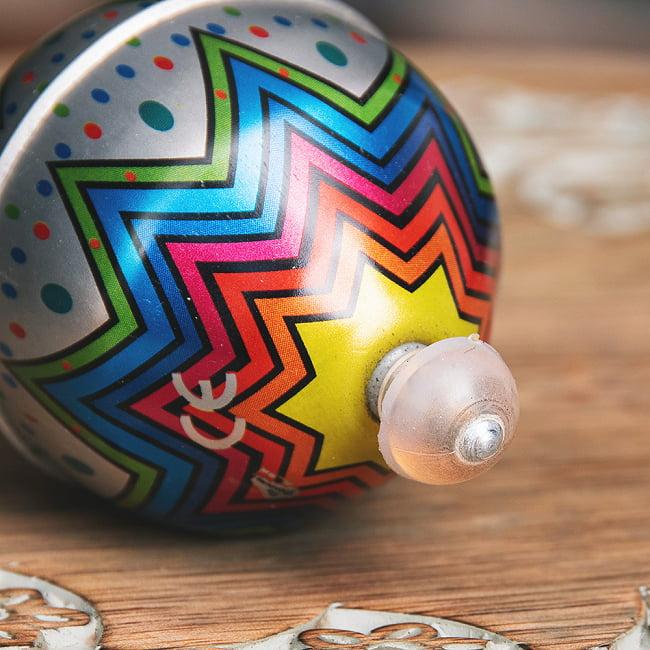 〔アソート〕フリクション式 カラフル気球コマ インドのレトロなブリキのおもちゃ 6 - 拡大写真です
