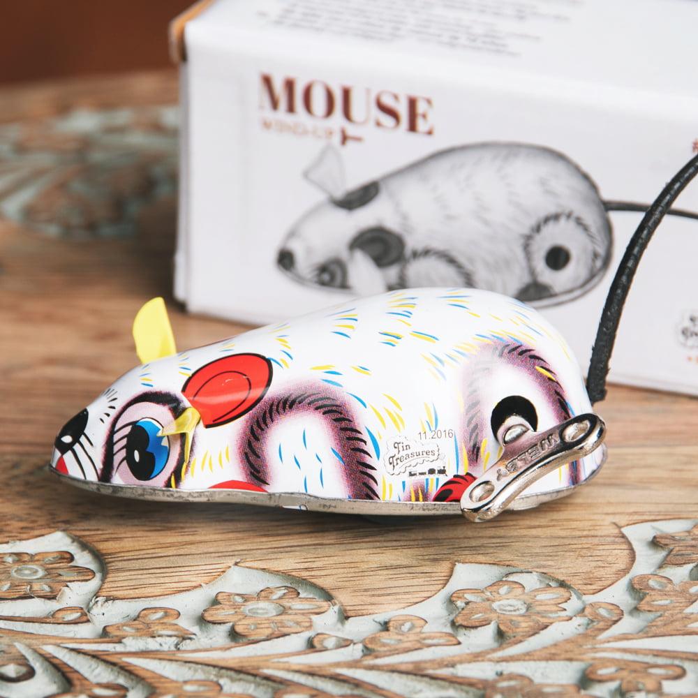 ゼンマイ式で動くカラフルネズミさん インドのレトロなブリキのおもちゃ 2 - どこか懐かしい雰囲気