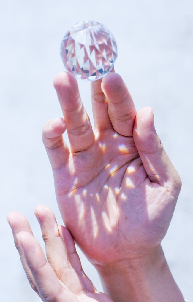 [5cm-3個セット]太陽の光を集めるクリスタル サンキャッチャーの写真8 -