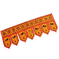 インドの飾りトーラン -ぞうと花と鏡-アソート