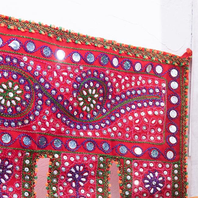 砂漠の国のトーラン -ビーズ-ハート 3 - 端までキレイに刺繍されています。