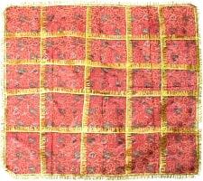 インドの祭壇布ーチュナリ-【約100cm×約95cm】