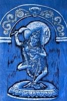 [大サイズ]バティック染めのタペストリー風神様布 - カーリー[約85x130cm]