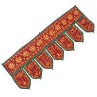 インドの飾りのれん 【花・象】