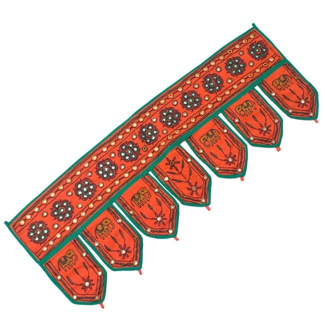 インドの飾りのれん 【花・象】 オレンジ アソートの写真