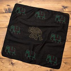インドの木版染めハンカチ  - 象
