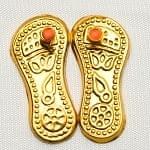 神様の履物 - パドゥカ ・Laxmi Charan Paduka (金)