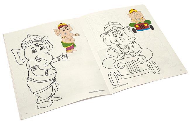 ガネーシャの塗り絵 - Coloring Book of Ganesha 2 -