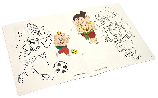 ガネーシャの塗り絵 - Coloring Book of Ganesha 3 -
