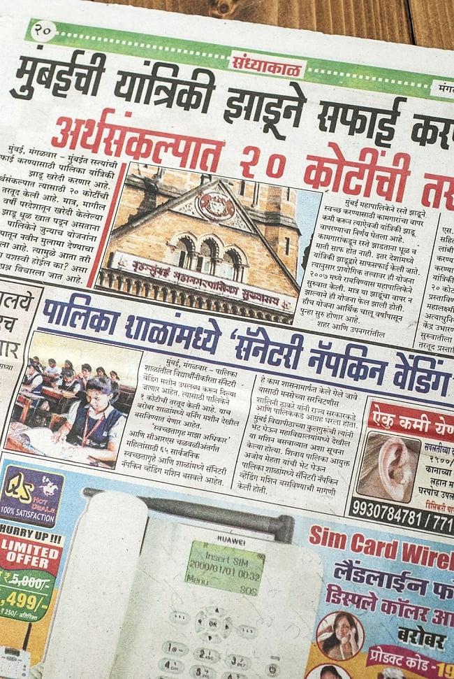 インド・ネパールの古新聞【1部】 2 - 何を書いてあるのかぜんぜんわかりません!