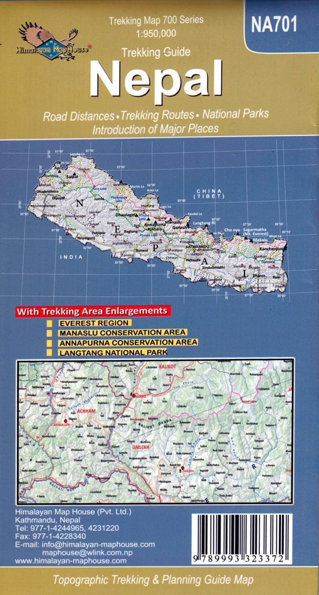 Trekking Guide Nepal【ネパール全土地図】 2 - 裏表紙です。