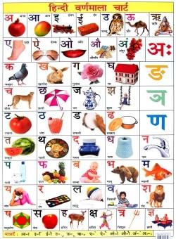 インドの学習ポスター - デーヴァナーガリーの学習[大]