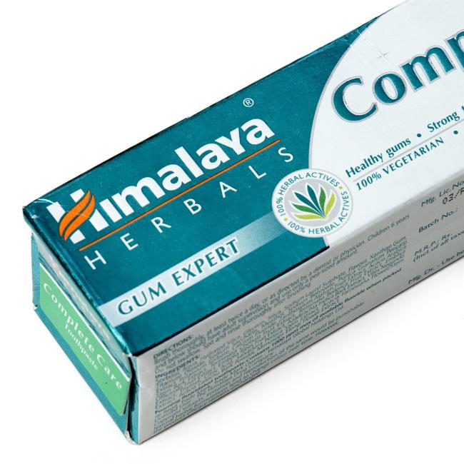 インドのアーユルヴェーダ歯磨き粉 - COMケア【Himalaya Herbals】の写真2 - パッケージの裏面です