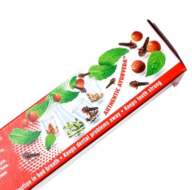 RED - アーユルヴェーダ歯磨き【Dabur】の写真3 - アーユルヴェーダ成分配合