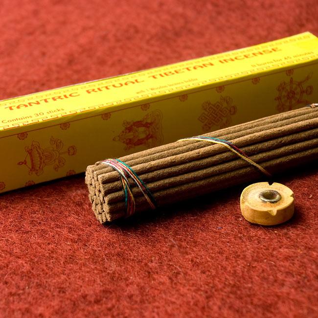 Tantric Ritual Tibetan香の写真3 - お香はちょっと太めですが、付属のお香立てを使用できるので安心です。