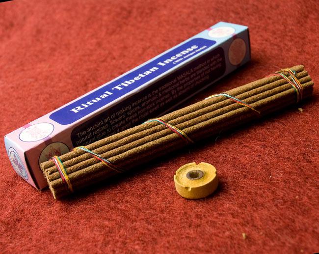 Ritual Tibetan香 3 - お香はちょっと太めですが、付属のお香立てを使用できるので安心です。