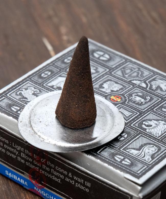 【Satya】スーパーヒット[コーン香BOX]の写真4 - お香スタンドは、こちらの金属タイプの場合もございます。