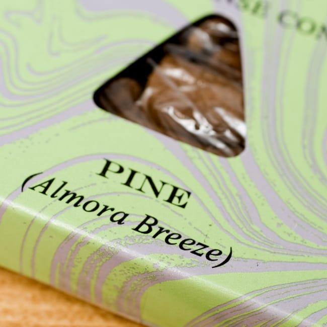 松(PINE)の香り - オウロシカコーン香の写真2 - オウロシカオリジナルの模様箱です。こちらに香名が記載されています。